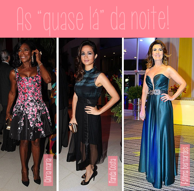 Glória Maria, Nada Costa, Fátima Bernardes, atriz, jornalista, estilo, famosas, festa, vestido