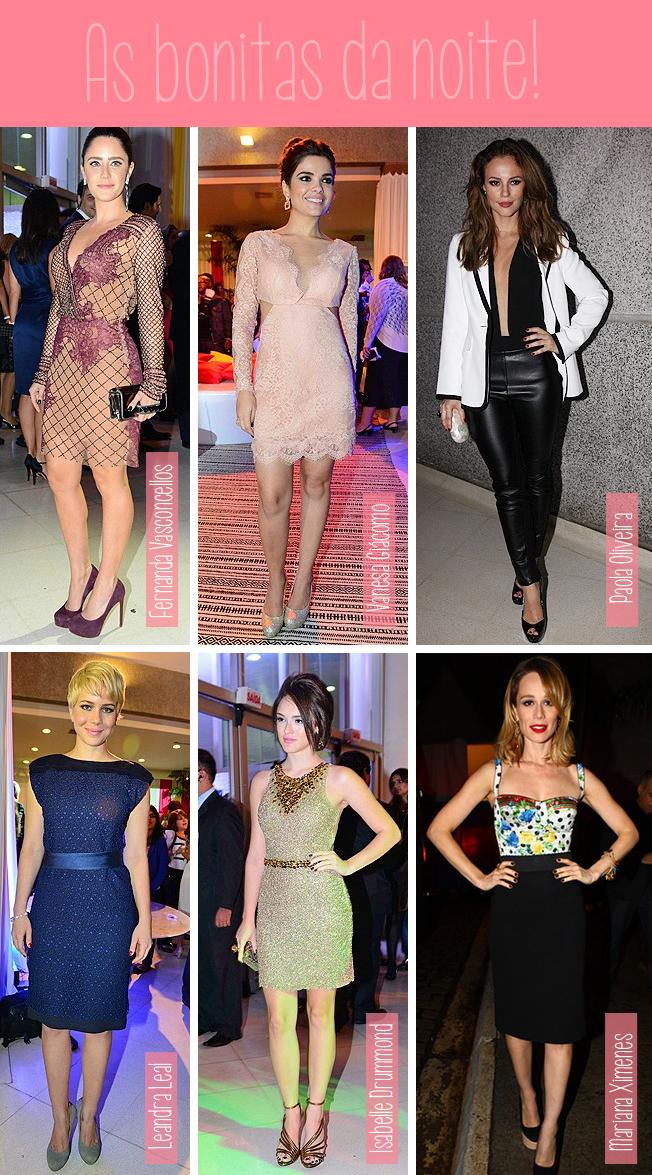 Fernanda Vasconcellos, Vanessa Giácomo, Paola Oliveira, Leandra Leal, Isabelle Drummond, Mariana Ximenes, moda, estilo, bonitas, bem vestidas, festa