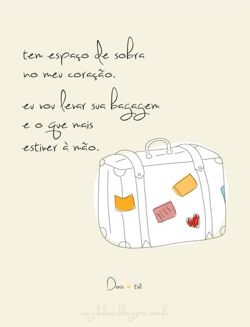 amor, dia dos namorados, cartão, fofo, mala vintage, ilustradora Kênia Lopes