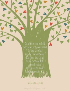 amor, dia dos namorados, cartão, 2013, fofo, árvore, coração, ilustradora Kênia Lopes