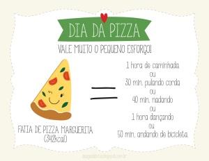 ilustração, ilustradora Kênia Lopes, cartão dia da pizza, fofo, desenho, happy, delícia