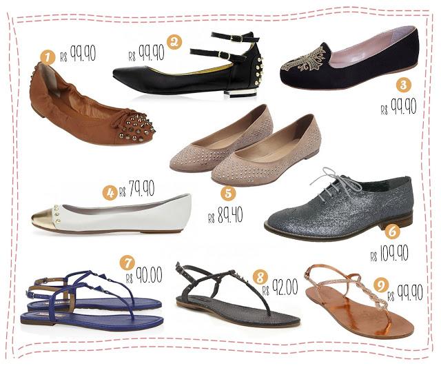 promoção, preço baixo, oferta, acessível, sapatilha, oxford, rasteira, sliper, sem salto, nude, glitter, spike, schutz