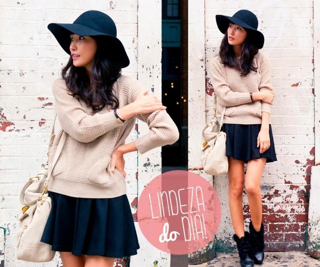 moda, fashion, meia estação, inverno, outono, trico, short, saia, bota, look,