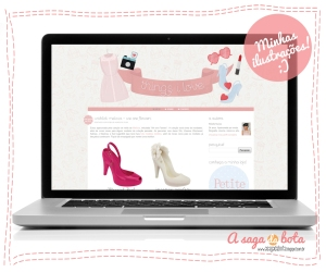 ilustradora Kênia Lopes, background, layout para blog, trabalhos, job, retrô, fofo, vintage, identidade visual