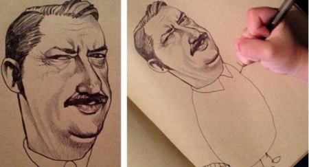 http://distractify.com/fun/illustrator-draws-faces-lets-4-year-old-draw-bodies-ends-up-with-adorably-weird-art/