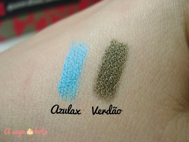 Azulax, verdão, lindo, make, glitter, swatches