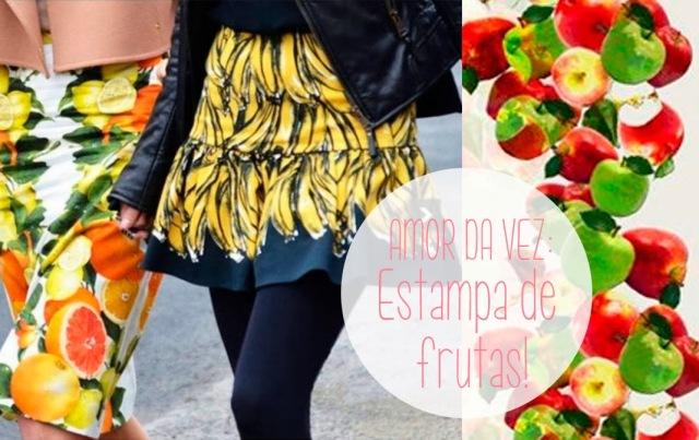 verão, moda, print, banana, maça