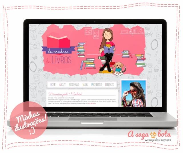 ilustração cabeçalho blog, header ilustrado, ilustradora Kênia Lopes, desenhos da Kênia, encomenda, trabalho, pintura digital, ilustração personalizada
