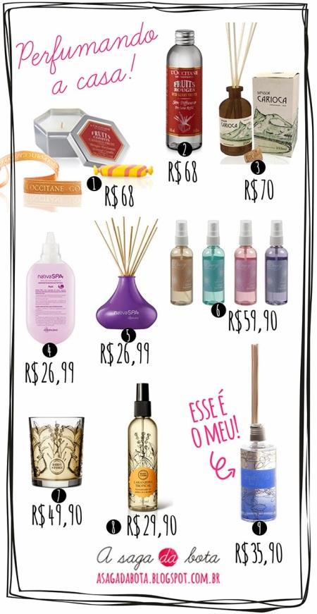 aromatizadores, difusores, velas aromáticas, onde comprar, barato, cheiroso, etna, tok & stok, body store, boticário, l'occitane, granado