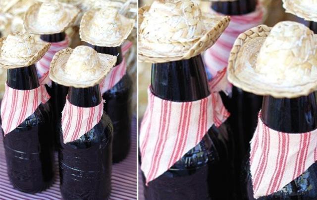 garrafas decoradas para festa junina, barato, inspiração