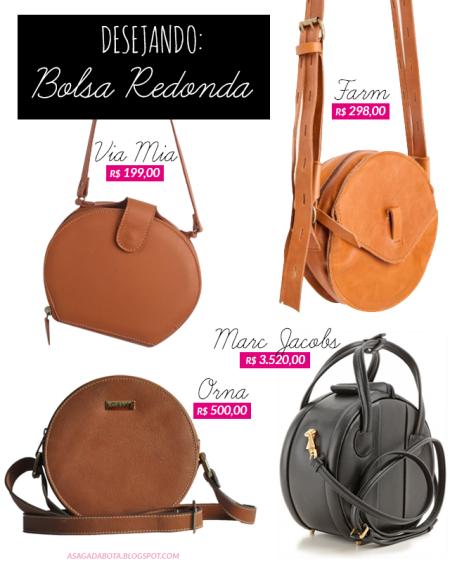 bolsa redondinha, orna concept, via mia, farm, Marc Jacobs, estilo, bolsa verão 2015, bolsa couro, bolsa redonda, bag circle