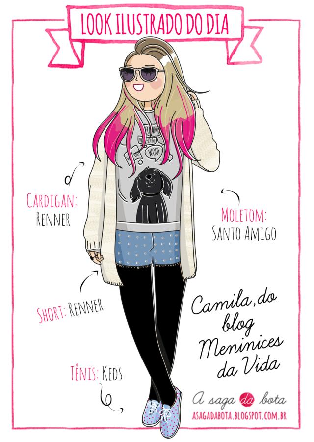 Ilustração personalizada para blog, desenho blogueira, estilo, desenho fofo, lustradora Kênia Lopes