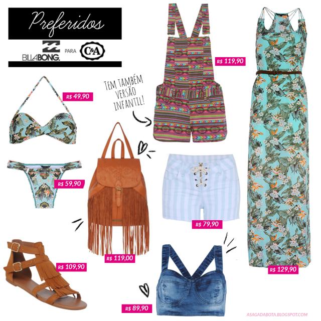 biquni, mochila franja, top cropped jeans, rasteirinha de franjas, jardineira, listras, vestido longo, fast fashion