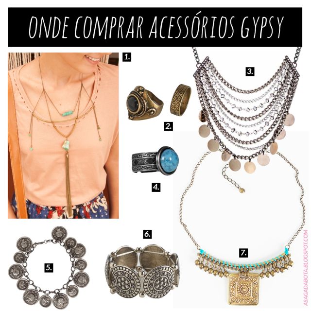 estilo gypsy, colar gypsy, anel gypsy,